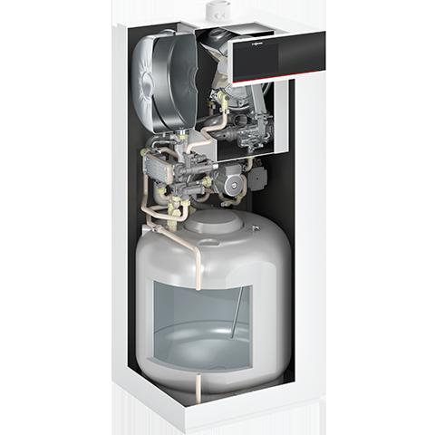 Vue en coupe chaudière gaz compacte à condensation Vitodens 222-F